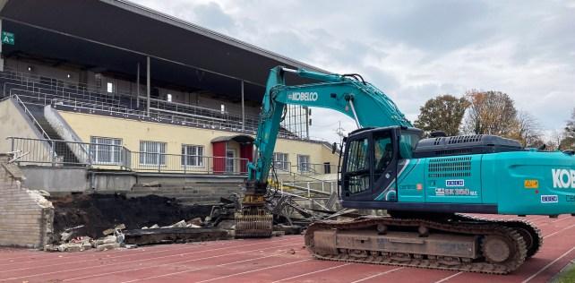 Grundsteinlegung für neues DSC-Stadion im Ostragehege
