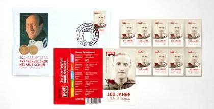 Jetzt erhältlich: Helmut-Schön-Briefmarken von Post Modern