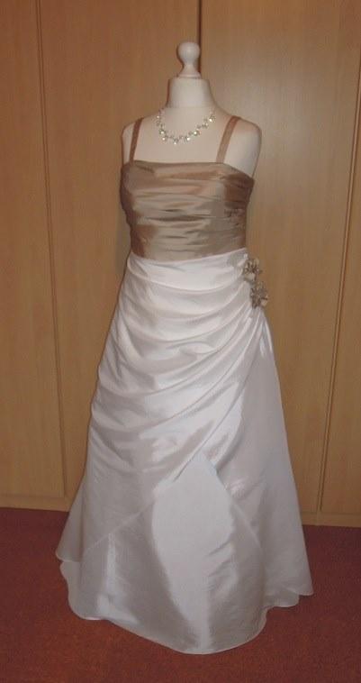 Brautkleid Hochzeitskleid Bolero ivory cappuccino Gr 48