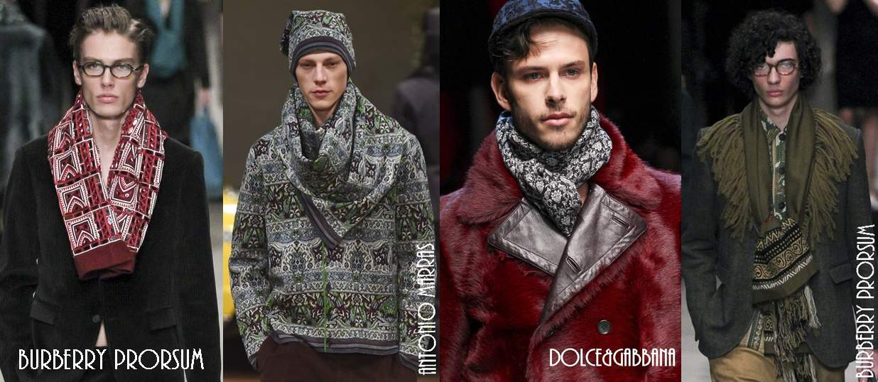 Men's hats and scarves trends Fall Winter 2015