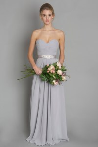 Mink Grey Chiffon Bridesmaid Dress  fashion dresses