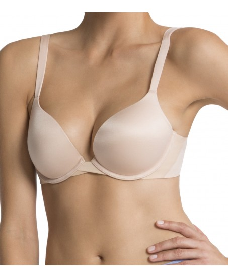 pillow cup signature push up plunge in nude