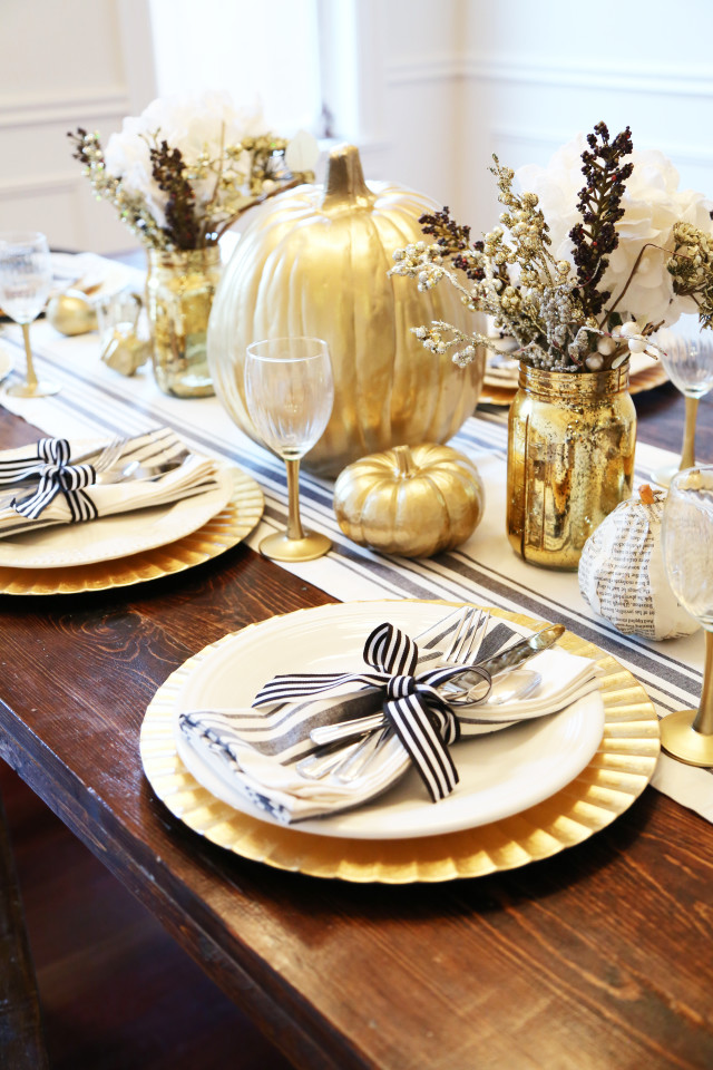 farmhouse table and chairs with bench impact x rocker chair all set: black gold thanksgiving table. - dress cori lynn