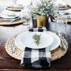 Ikea Metal Chairs Ivory Ruched Chair Covers Modern Farmhouse Thanksgiving Tablescape - Dress Cori Lynn