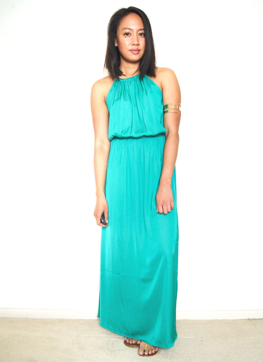 LOFT Tasseled Maxi Dress + Arm Cuff