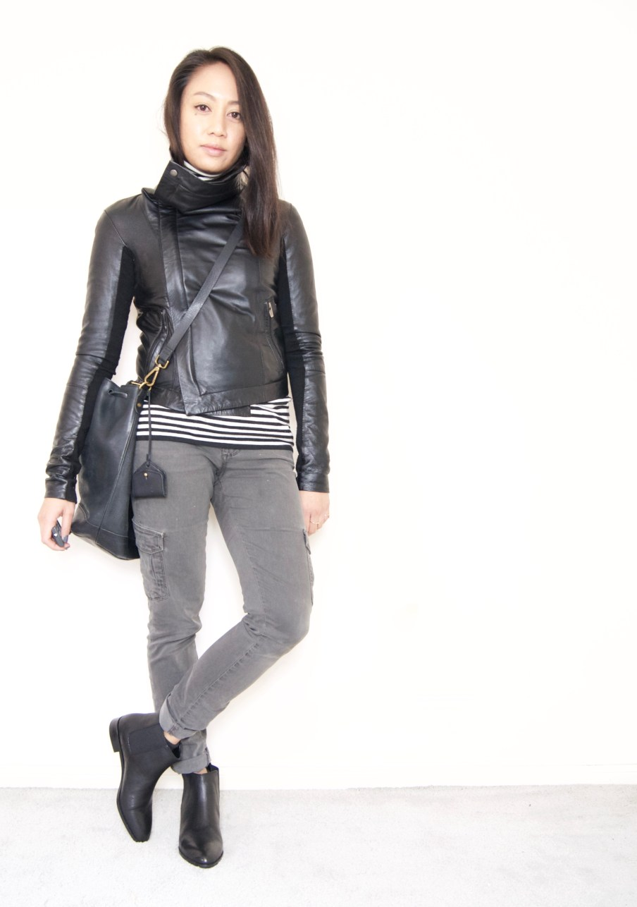 DRESSED ACCORDINGLY BLOG // Veda Max Classic Leather Jacket + Cargo Pants + Chelsea Boots