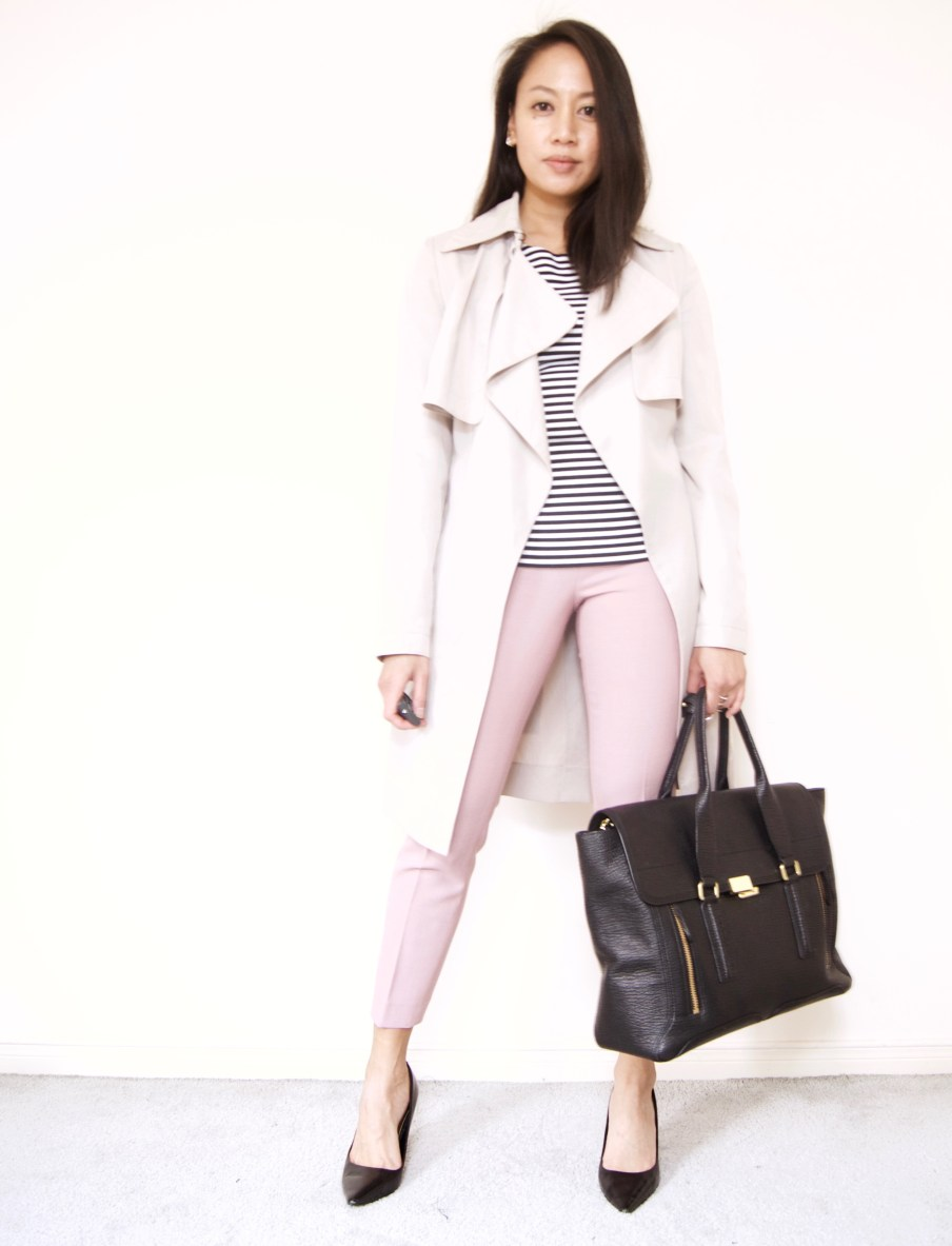 J.Crew Martie Pant in Mauve + Trench + Stripes