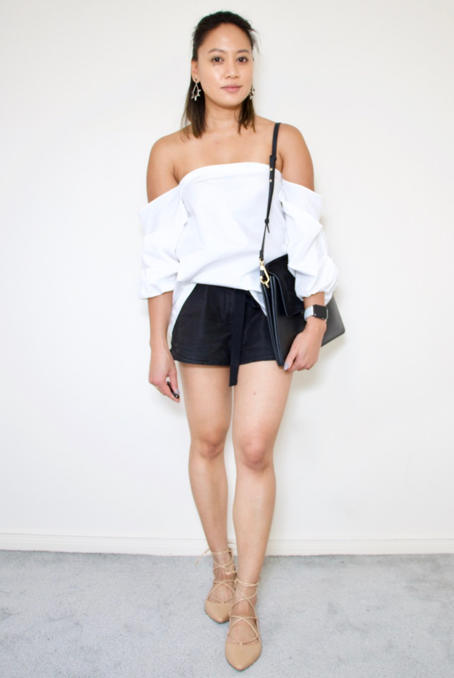 Off the shoulder top + shorts