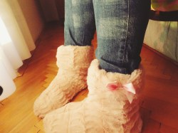 I JUST CAN'T GET ENOUGH OF MY NEW CUTE SLIPPERS