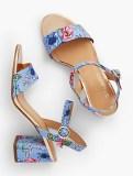 Chunky heels look modern and fun