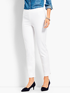 Talbots Chatham Ankle Pants in White