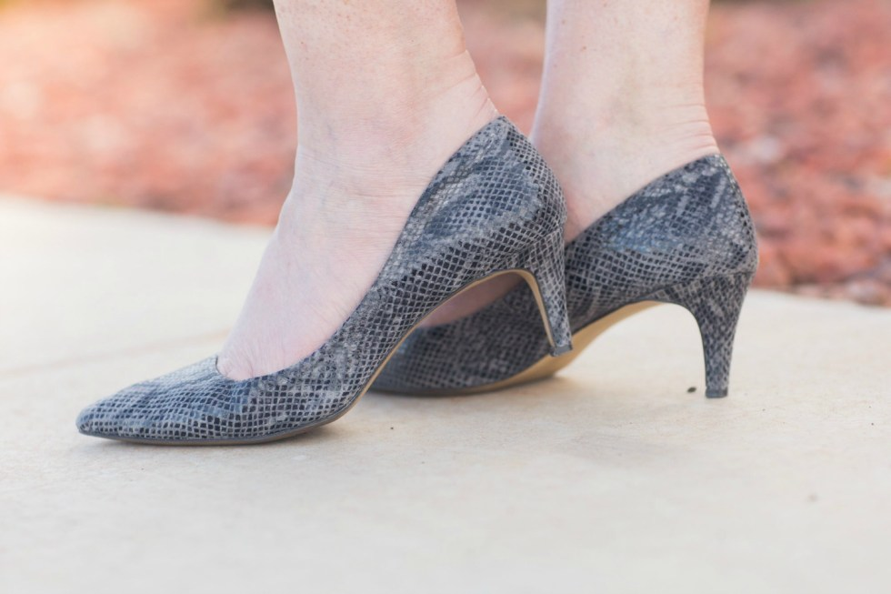 Gray Snake Skin Shoes from Banana Republic