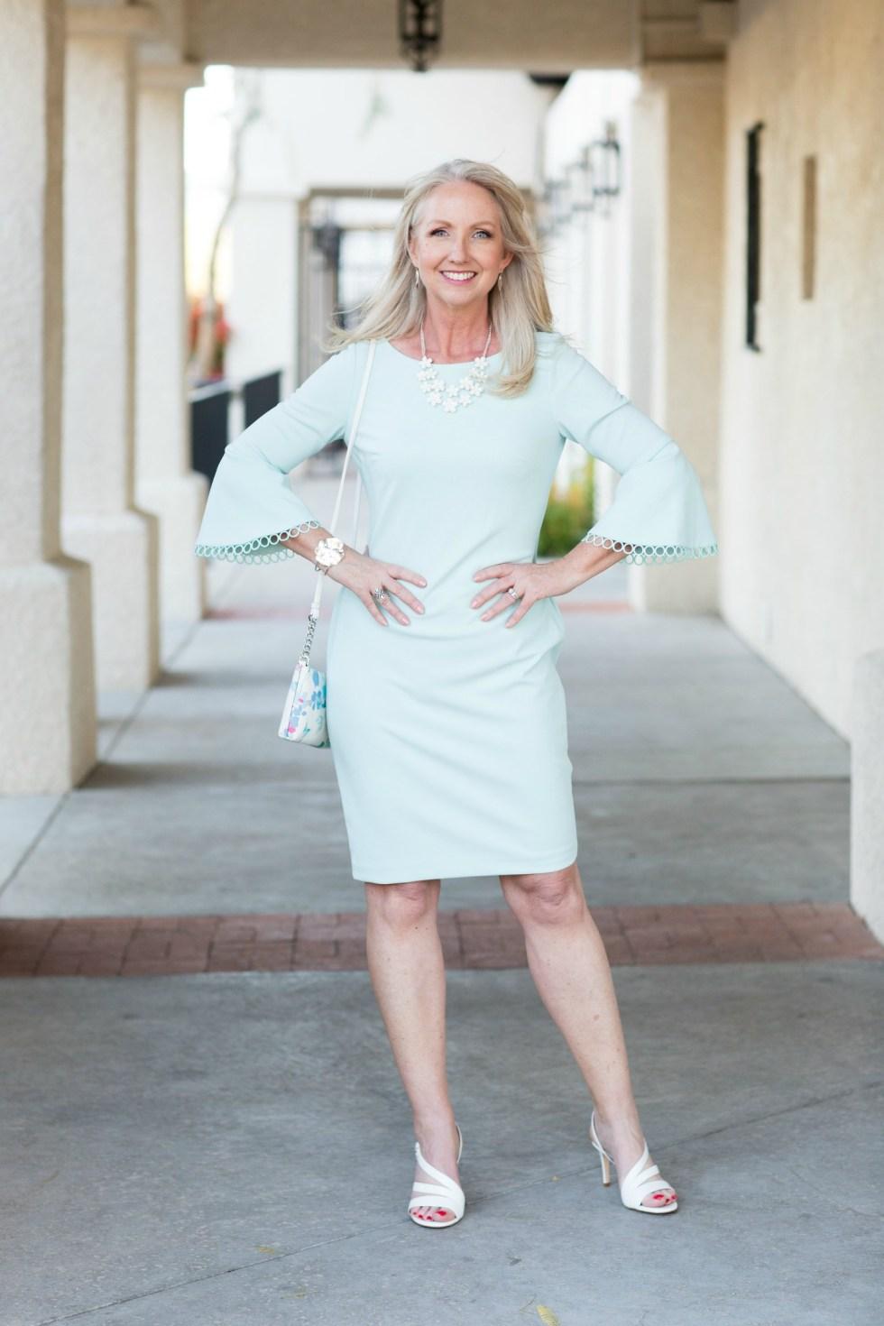 Pastel Bell Sleeve Dress for Spring 2018