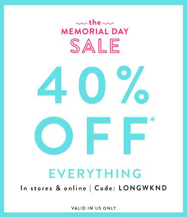 Loft Memorial Day Weekend Sale