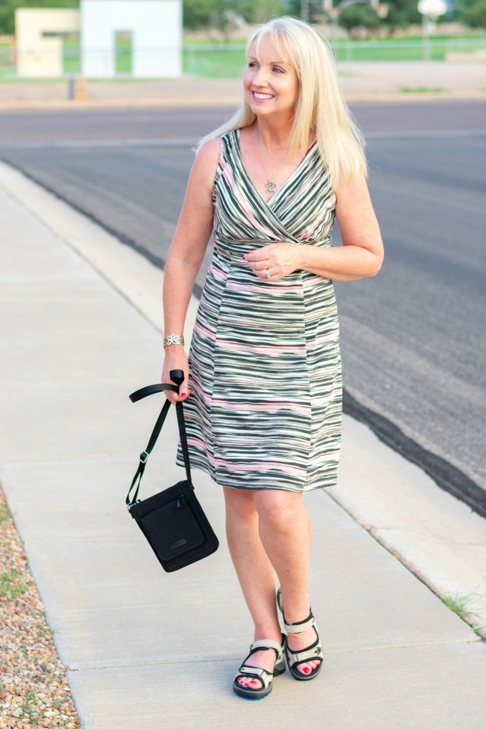 Comfortable Shoes and Summer Dress
