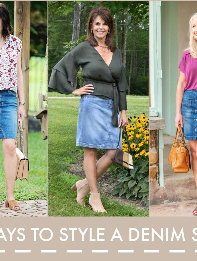 3 ways to style a denim skirt