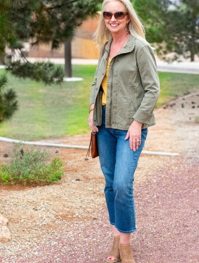 Utility Jacket Completes Fall Weekend Look