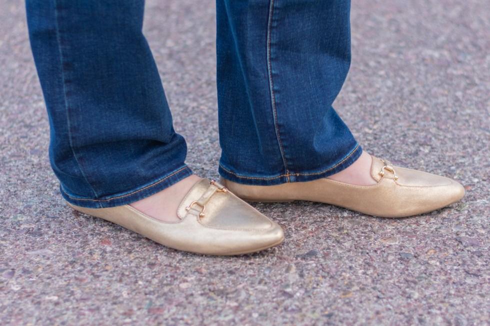 Red Velvet Blazer + Boot Cut Jeans