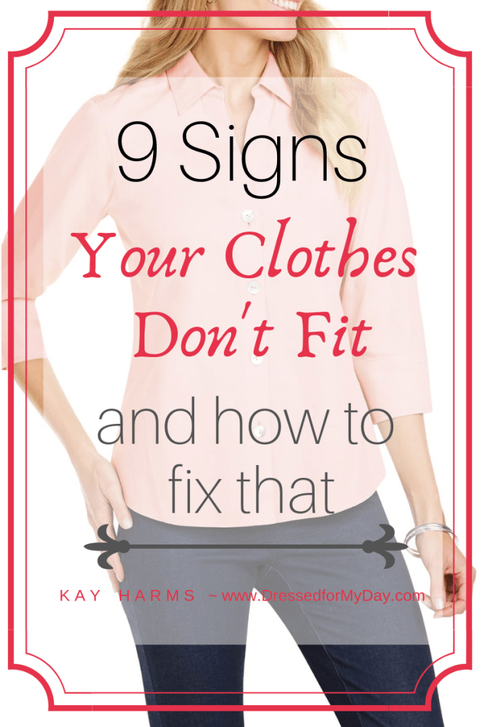 9 Signs Your clothes don't Fit