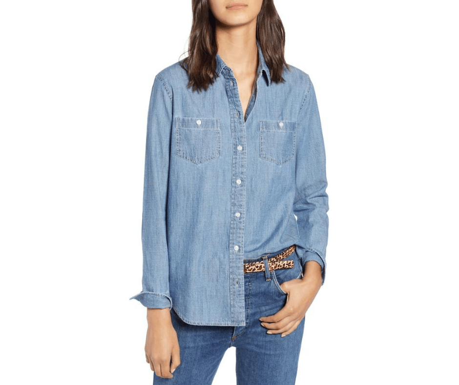 January Favorites Chambray Shirt