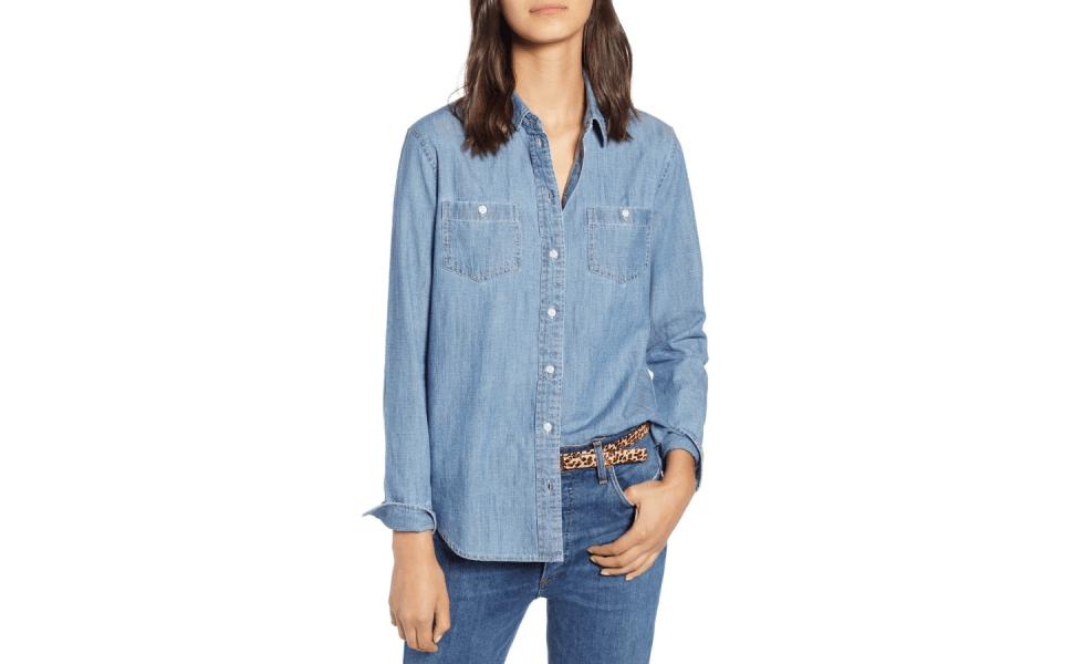 Spring 2019 Wardrobe Essentials chambray shirt