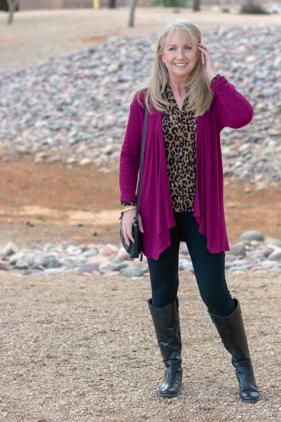 black riding boots with leggings