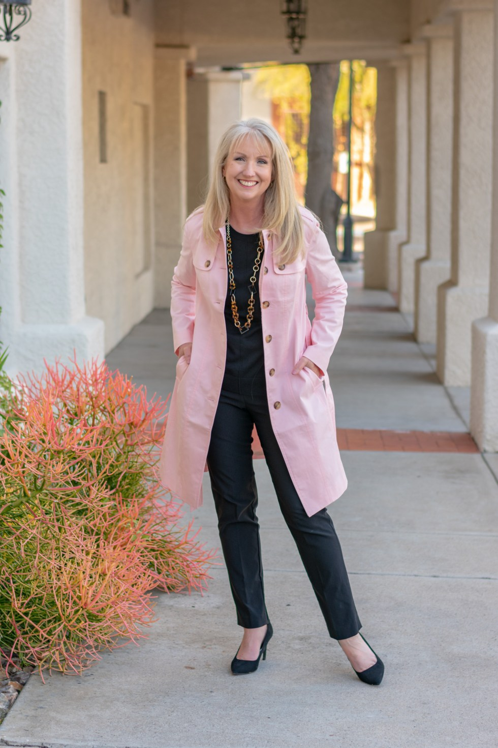How to Style a Column of Black Between Spring Colors