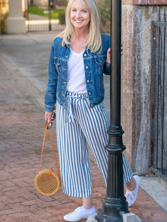 Sedona Wide Leg Ankle Pants + Denim Jacket