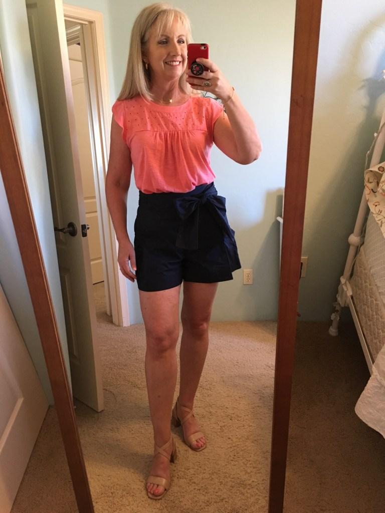Cotton Poplin Tie Waist Shorts