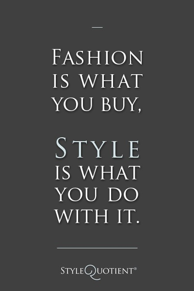 fashion is what you buy