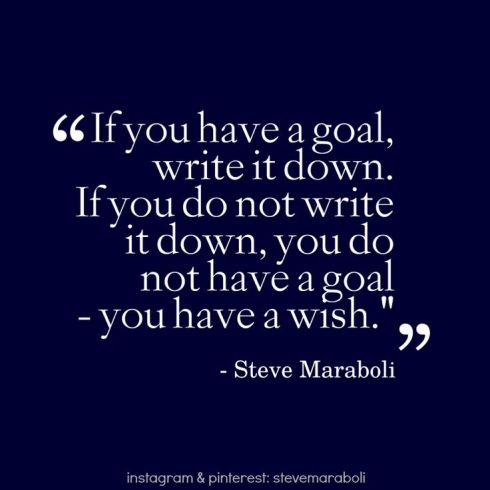 If you have a goal