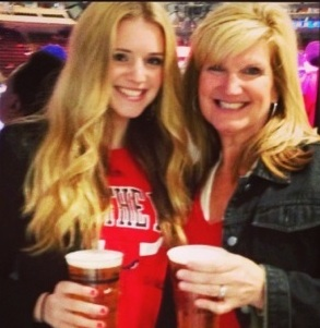 Mer and Mom at Bulls Heat
