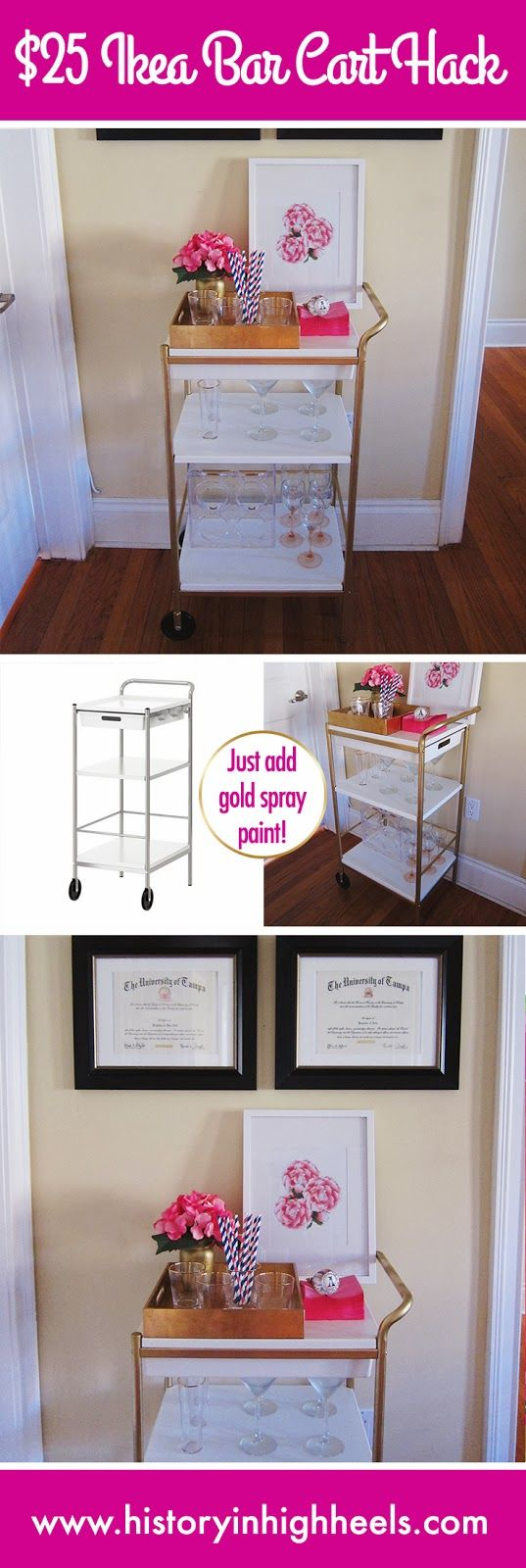 Ikea bar cart hack