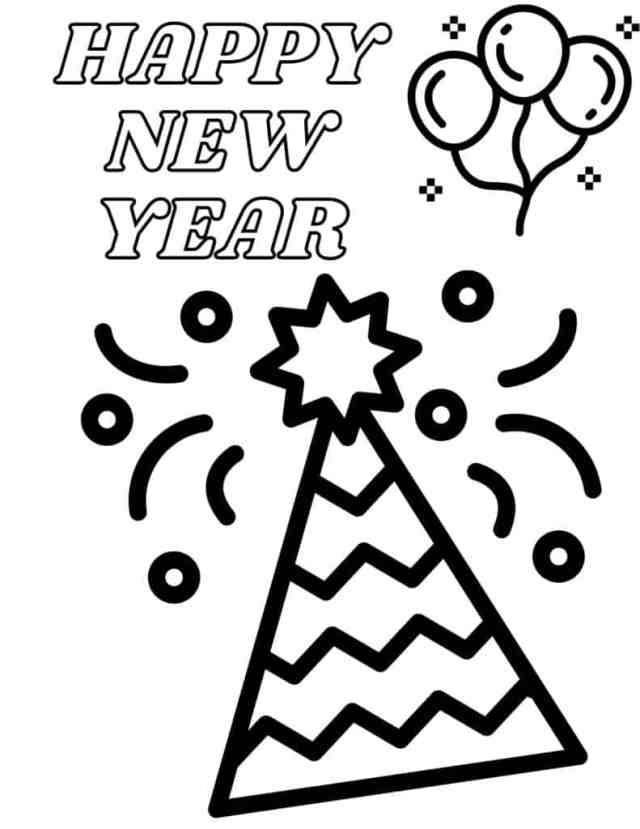 New Years Coloring Pages for Kids - Dresses and Dinosaurs