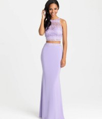 Lavender Two Piece Prom Dress - Fashion Week Collections ...