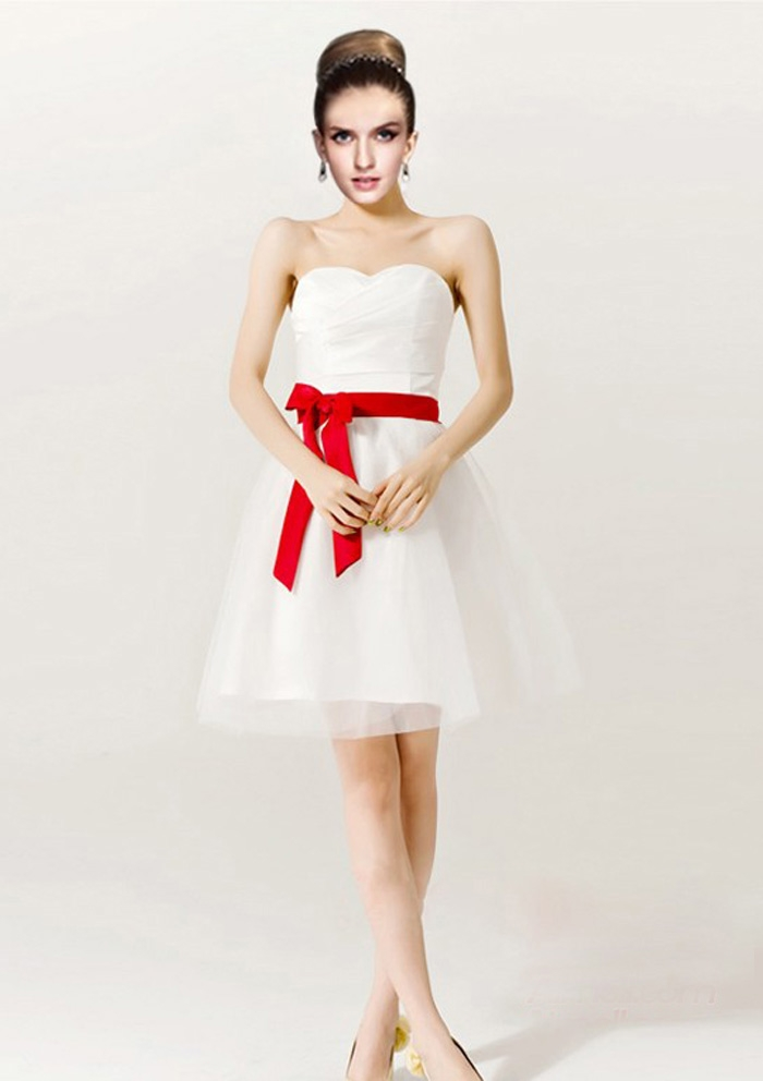 Red And White Wedding Bridesmaid Dresses & A Wonderful