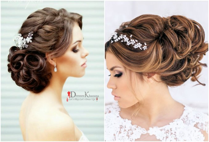 new trend of bridal hairstyles for wedding girls 2016