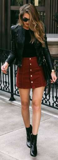Badass leather clothes for women (019)   fashion