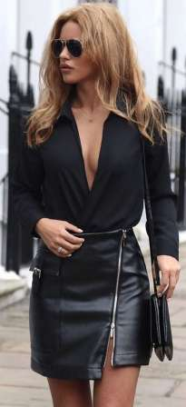 Badass leather clothes for women (056)   fashion
