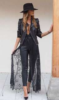 Badass leather clothes for women (058) | fashion