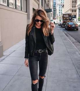 Badass leather clothes for women (069)   fashion