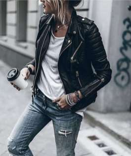 Badass leather clothes for women (080)   fashion