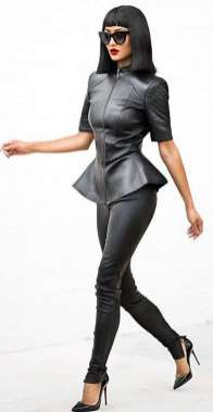 Badass leather clothes for women (091)   fashion