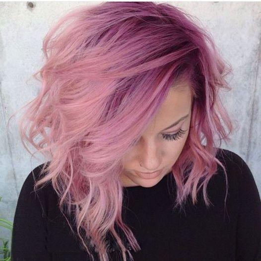 Colorful pink hairstyles (6)