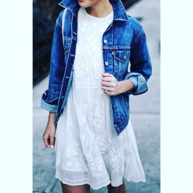 Denim jacket for women street style ideas (20)