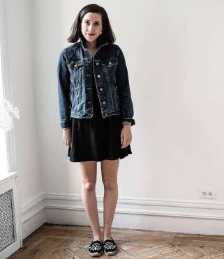 Denim jacket for women street style ideas (31)