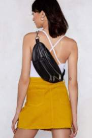 Nasty Gal WANT Chain It In Faux Leather Fanny Pack