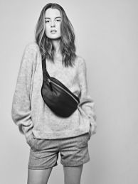 CHRISTINA FISCHER Oversized Leather Bumbag With Suede Details - Made From 100% Recycled Leather & Suede. #handcrafted #madeindenmark #sustainable #ethical #upcycled #fashion #bumbag #beltbag #fannypack
