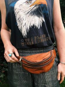 Etsy.com Need A New Festival Bag? Take A Look At Our Handmade Leather Hip Bags (aka The New Take On The Old School Fanny Pack). Click Through To View More Styles And Options! #fannypack #leatherpurse #bohostyle #bohofashion #western #hipback