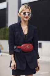 Fromluxewithlove.com : Black Outfit - Fannypack Outfits Street Style Ideas